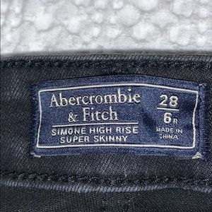 Black Abercrombie and Fitch Simone High Rise